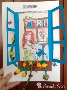 Tutorial: manualidad de ventana con niños
